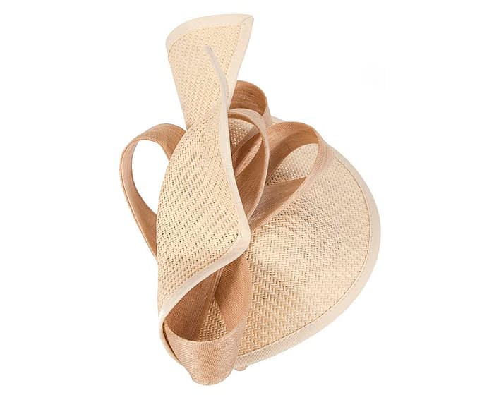 Fascinators Online - Nude fascinator with bow by Fillies Collection 4