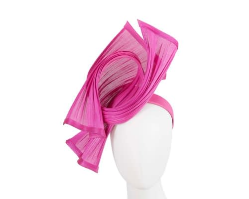 Fascinators Online - Twisted fuchsia jinsin racing fascinator by Fillies Collection 1