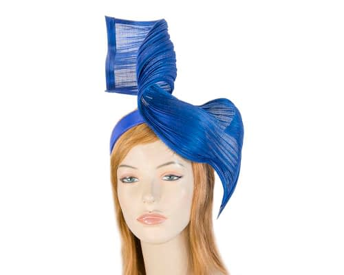 Fascinators Online - Royal blue twisted jinsin fascinator by Fillies Collection 1