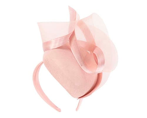 Fascinators Online - Tall modern pink pillbox racing fascinator 2
