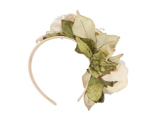 Fascinators Online - Multi-color cream flower headband by Max Alexander 4