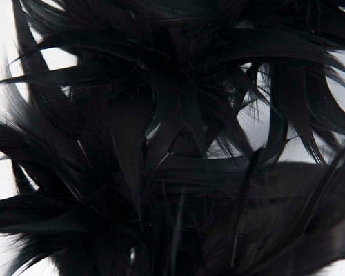 Fascinators Online - Black feather racing fascinator by Max Alexander 3