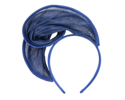 Fascinators Online - Royal blue headband racing fascinator by Fillies Collection 4