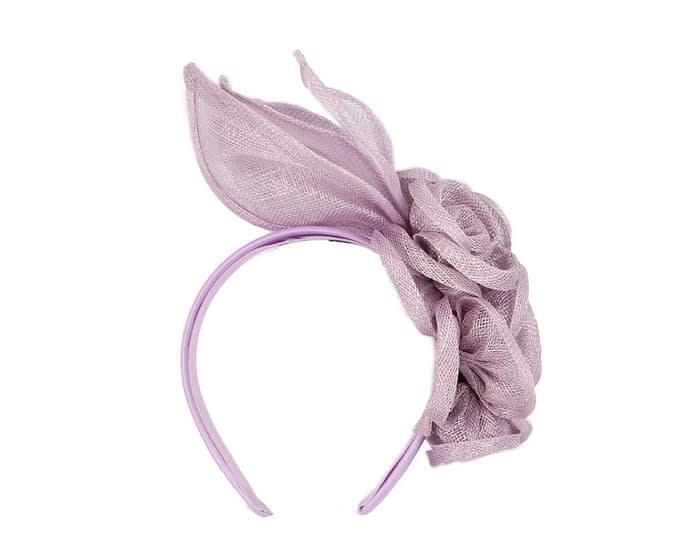 Fascinators Online - Large lilac flower headband fascinator by Max Alexander 4