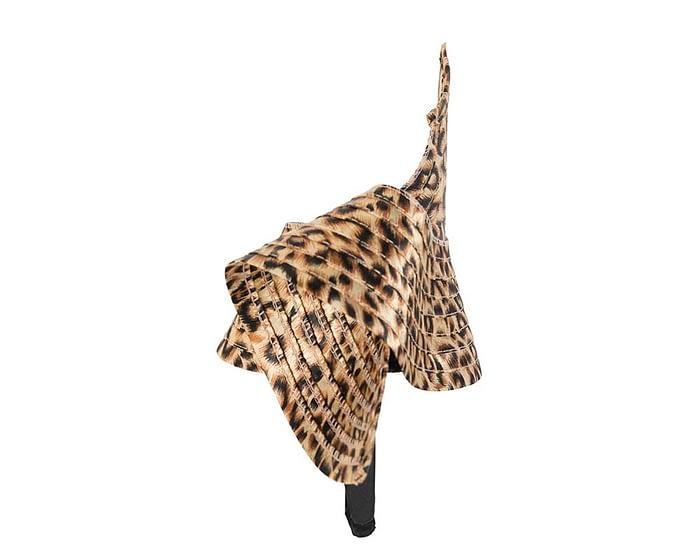Fascinators Online - Stylish leopard Australian Made racing fascinator by Max Alexander 4