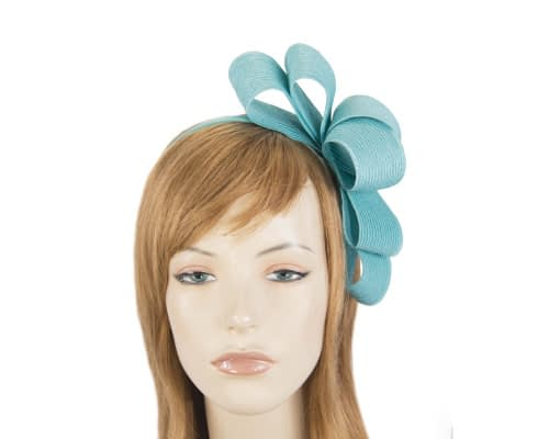 Fascinators Online - Large turquoise bow racing fascinator by Max Alexander 1