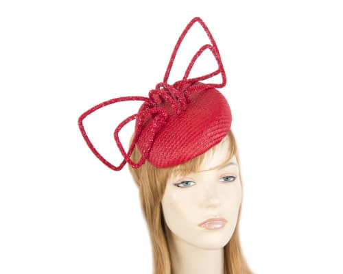 Fascinators Online - Bespoke red pillbox with bow by Fillies Collection 18