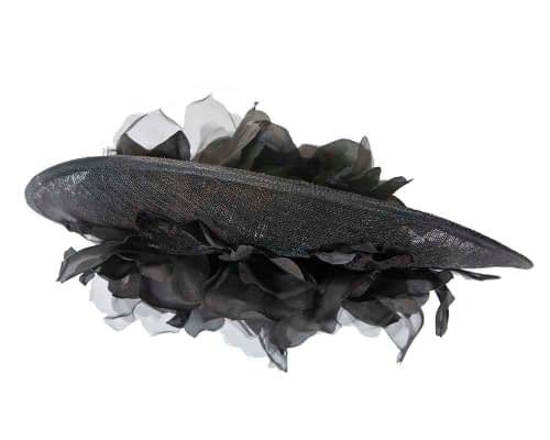 Fascinators Online - Large black plate racing fascinator by Fillies Collection 6