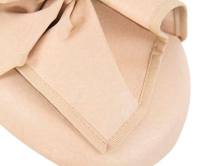 Fascinators Online - Nude leather pillbox fascinator by Max Alexander 5