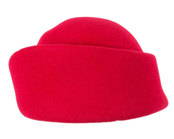 Fascinators Online - Designers red felt hat 5