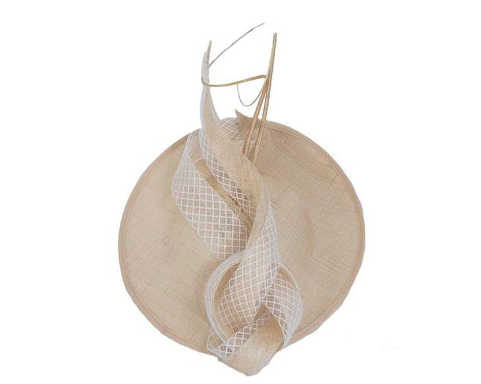 Fascinators Online - Large nude plate fascinator by Max Alexander 3
