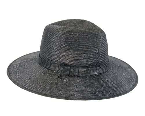 Black wide brim ladies hat