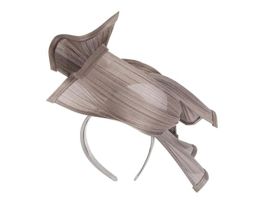 Fascinators Online - Twisted nudsilver jinsin racing fascinator by Fillies Collection 5