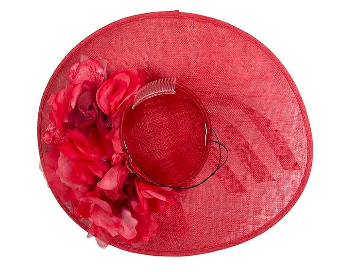 Fascinators Online - Large red plate racing fascinator by Fillies Collection 5
