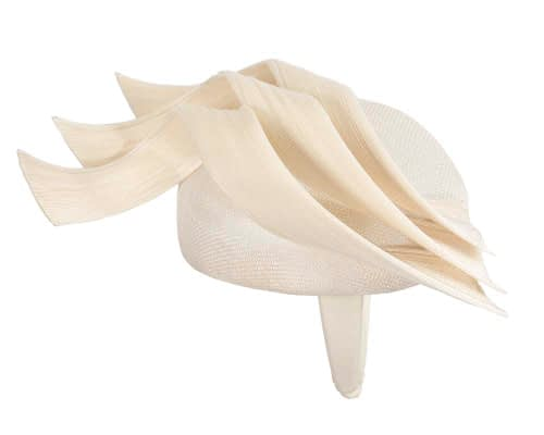 Fascinators Online - Cream pillbox racing fascinator with jinsin trim by Fillies Collection 4