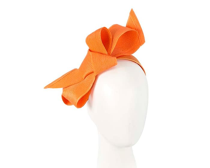 Fascinators Online - Large orange bow fascinator by Max Alexander 1