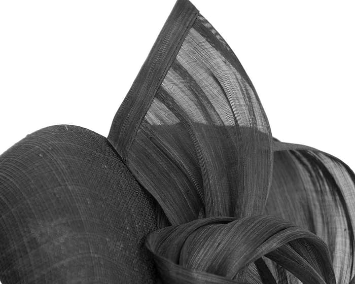 Fascinators Online - Black pillbox fascinator with silk bow by Fillies Collection 3