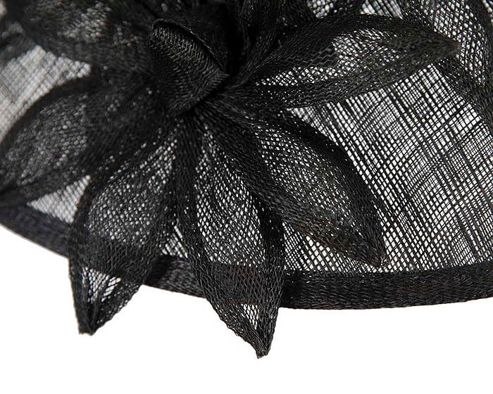 Fascinators Online - Large traditional black racing hat by Max Alexander 5