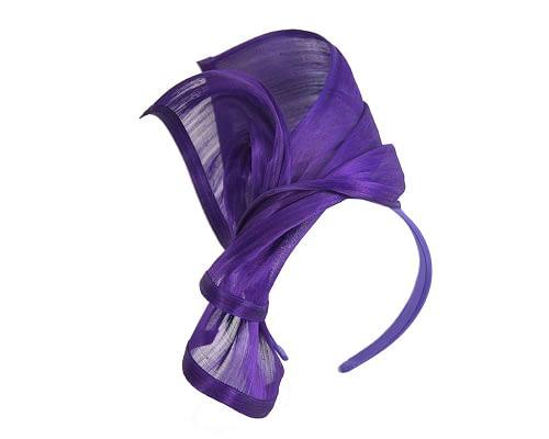 Fascinators Online - Purple twists of silk abaca fascinator by Fillies Collection 2