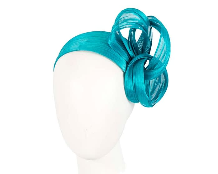 Fascinators Online - Turquoise retro headband fascinator by Fillies Collection 1