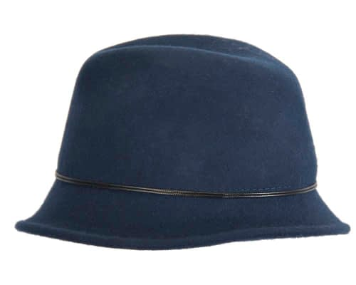 Fascinators Online - Navy felt trilby hat by Max Alexander 4