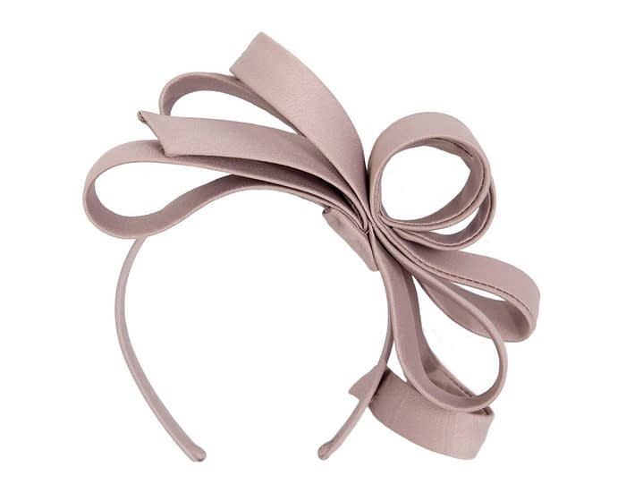 Fascinators Online - Taupe bow racing fascinator by Max Alexander 4