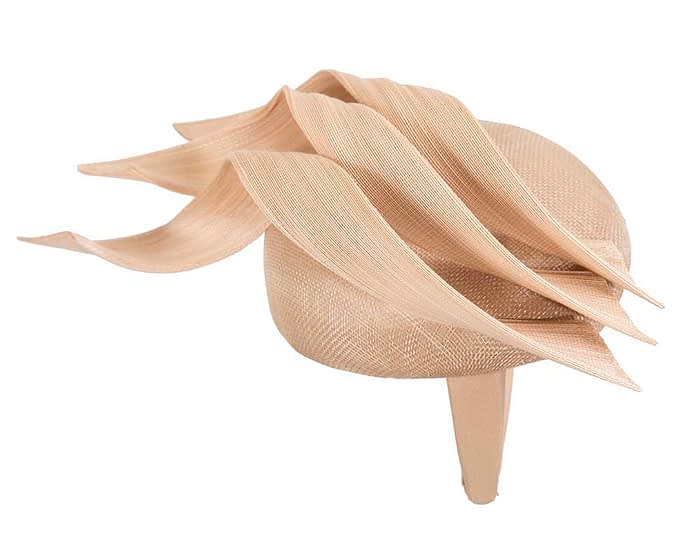 Fascinators Online - Nude pillbox racing fascinator with jinsin trim by Fillies Collection 4