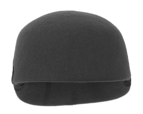 Fascinators Online - Black felt ladies cap with lace 3