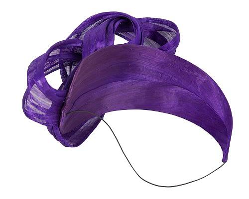 Fascinators Online - Purple retro headband fascinator by Fillies Collection 4