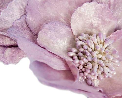 Fascinators Online - Lilac flowers on the headband 3