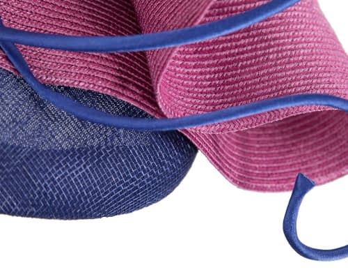 Fascinators Online - Designers royal blue & fuchsia racing fascinator by Fillies Collection 6