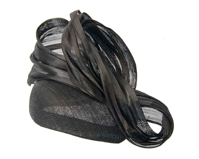 Fascinators Online - Black pillbox with bow by Fillies Collection 2