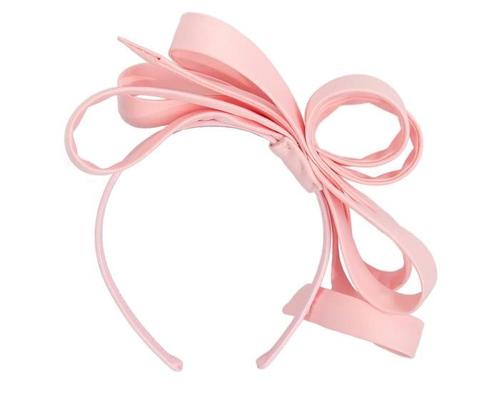 Fascinators Online - Pink bow racing fascinator by Max Alexander 4