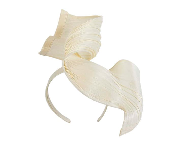 Fascinators Online - Ivory twisted jinsin fascinator by Fillies Collection 2