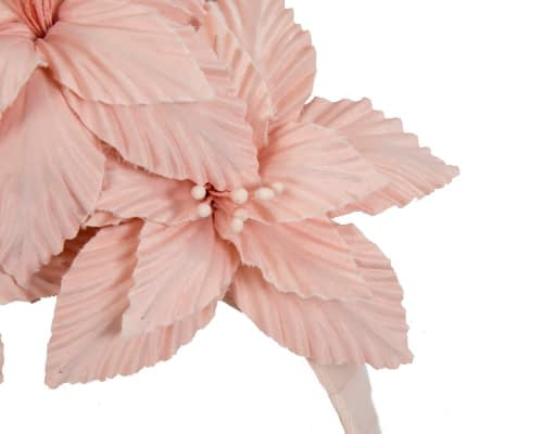 Fascinators Online - Blush sculptured handcrafted flower fascinator by Fillies Collection 3