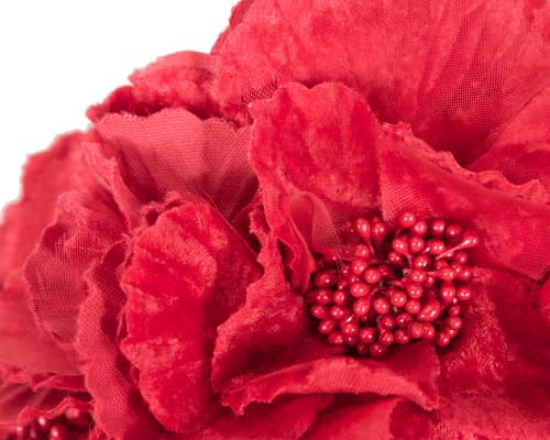 Fascinators Online - Bright Red flower crown halo 3