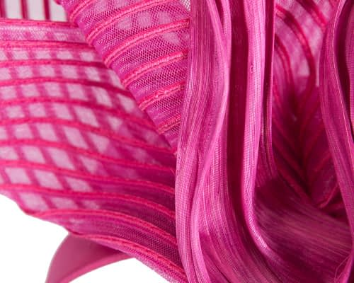 Fascinators Online - Tall Australian Made fuchsia racing fascinator by Fillies Collection 3