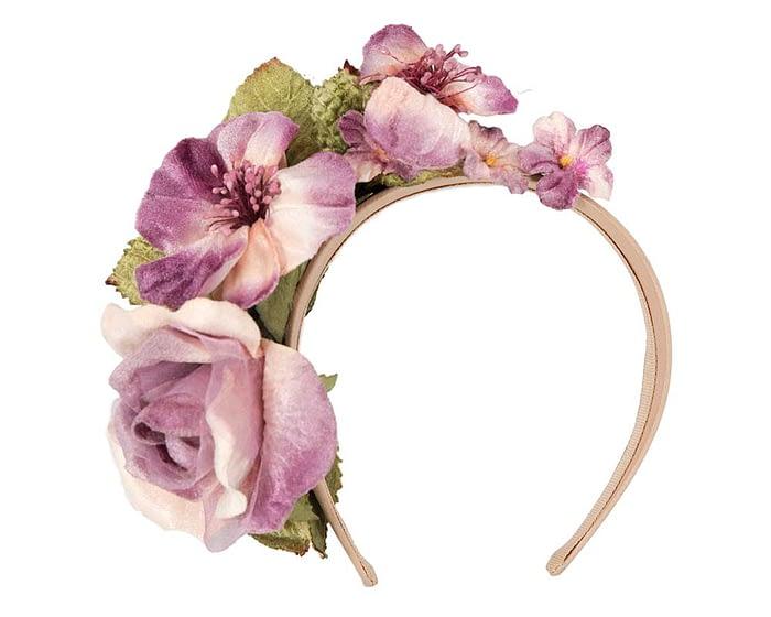 Fascinators Online - Multi-color lilac flower headband by Max Alexander 2