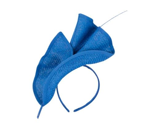 Fascinators Online - Modern Royal Blue racing fascinator by Max Alexander 2