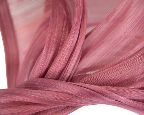 Fascinators Online - Dusty pink twists of silk abaca fascinator by Fillies Collection 3