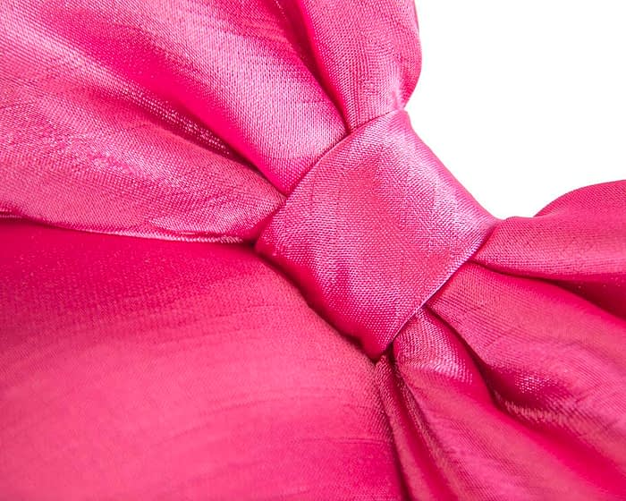 Fascinators Online - Large fuchsia bow fascinator by Max Alexander 3