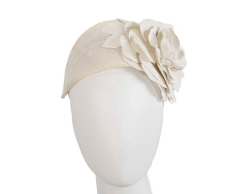 Fascinators Online - Cream leather flower headband fascinator by Max Alexander 33