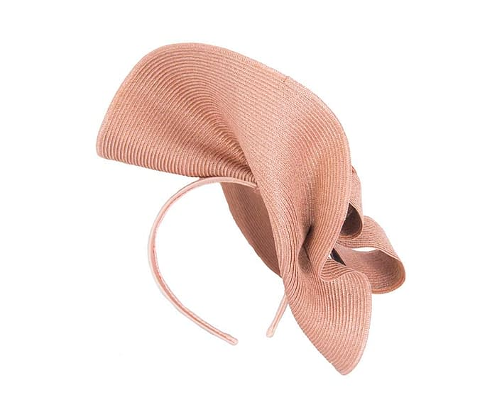 Fascinators Online - Large taupe fascinator with loops by Max Alexander 5