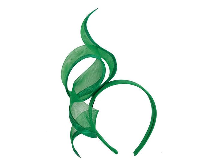 Fascinators Online - Twisted green racing fascinator by Fillies Collection 2