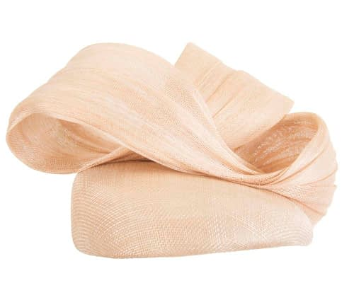 Fascinators Online - Nude pillbox fascinator with large bow by Fillies Collection 4