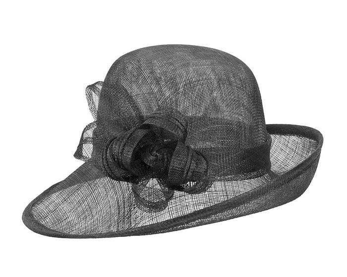 Fascinators Online - Black cloche spring fashion hat by Max Alexander 2