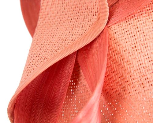 Fascinators Online - Coral fascinator with bow by Fillies Collection 6