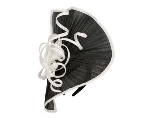 Fascinators Online - Large black & white jinsin racing fascinator by Fillies Collection 2