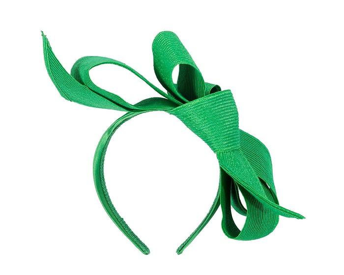 Fascinators Online - Large green bow fascinator by Max Alexander 4