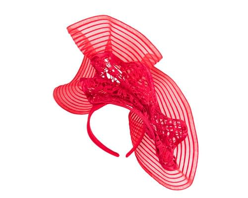 Fascinators Online - Large red racing fascinator with lace by Fillies Collection 2